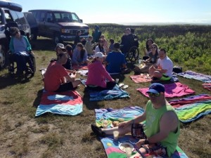 Picnic before kayaking at Long Point