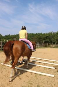 Marie: angel on horseback.