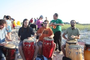 Seth's main gig may be with the Vineyard Sound, but the drummers do appreciate a helping hand every now and then.