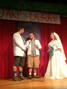 Clearly, Jake and Laura got different memos as per the dress code.