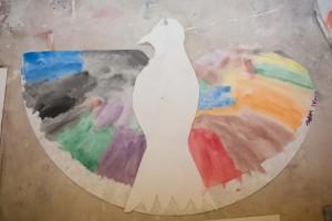 Sam Wood made a very awesome eagle/bird