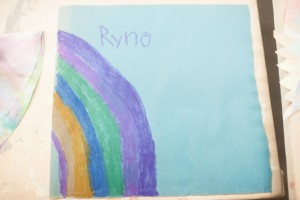 Ryno made a rainbow <3