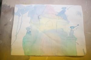 Julia colored in a castle