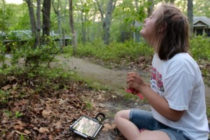 Ipad communication in the forest! What could be better?