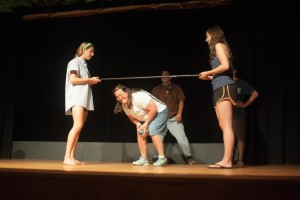 Kendra challenged Dave, Tim, and Mike to a limbo contest and DEFINITELY won.  Hands down. Look at these guys struggle.