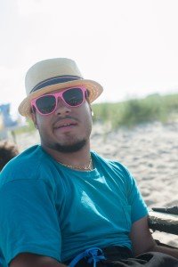 Here's a couple model shots of Myles BH. Between that hat and the glasses, his beach outfit is on point.
