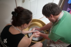 Sam wanted to use his hands, a more classic method for bowlmaking.
