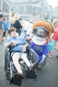 Sharon got her photo with a shark!