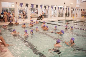 Look at all these friends in the pool! What a party! Thanks, YMCA!